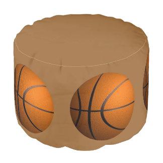 バスケットボールのブラウンのオットマン ラウンドクッション