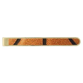 バスケットボールのプリントパターン背景 金色 ネクタイピン