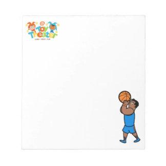 バスケットボールのメモ帳 ノートパッド