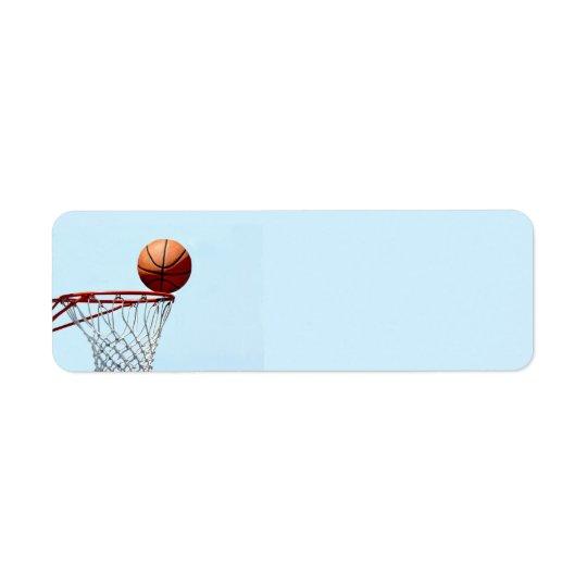 バスケットボールの予想 返信用宛名ラベル