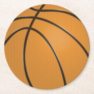 バスケットボールの円形のプラスチックコースター ラウンドペーパーコースター