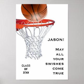 バスケットボールの卒業 ポスター