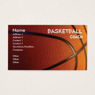 バスケットボールの名刺のテンプレート 名刺