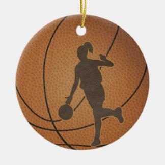 バスケットボールの女の子のオーナメント セラミックオーナメント