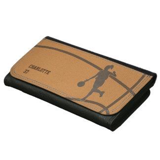 バスケットボールの女の子のカスタムな革財布