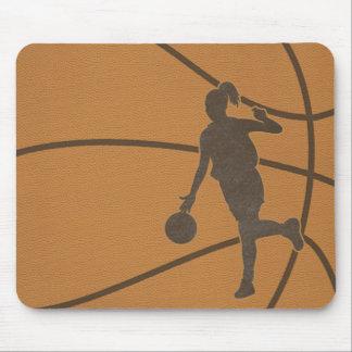 バスケットボールの女の子の球のマウスパッドのマウスパッド マウスパッド