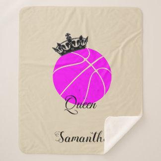 バスケットボールの女王のsherpa毛布 シェルパブランケット