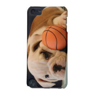 バスケットボールの子犬の英国のブルドッグ iPod TOUCH 5G ケース