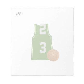 バスケットボールの小さいメモ帳が付いているバスケットボールのワイシャツ ノートパッド