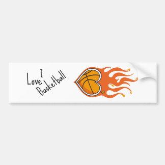 バスケットボールの恋人のバンパーステッカー バンパーステッカー