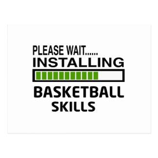 バスケットボールの技術を取付けること ポストカード