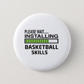 バスケットボールの技術を取付けること 缶バッジ