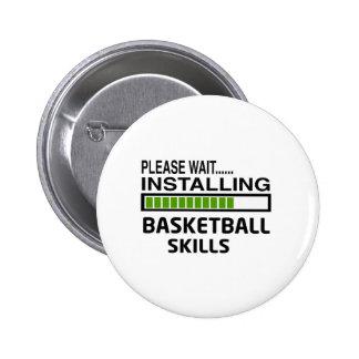 バスケットボールの技術を取付けること 5.7CM 丸型バッジ