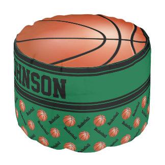 バスケットボールの深緑色のスポーツパターン プーフ