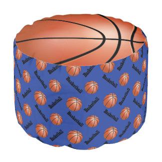 バスケットボールの濃紺のスポーツパターン プーフ