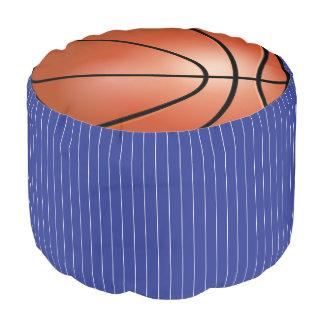 バスケットボールの濃紺及び白いスポーツパターン| DIY プーフ