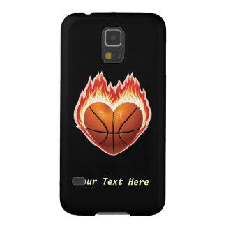 バスケットボールの火(パーソナライズされたな) GALAXY S5 ケース
