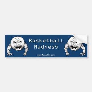 バスケットボールの狂気 バンパーステッカー
