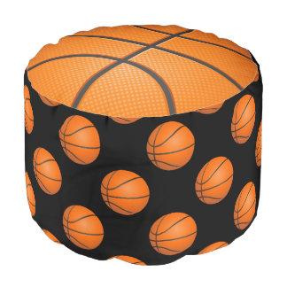 バスケットボールの球のおもしろいのPouf ラウンドクッション
