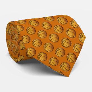 バスケットボールの球パターン ネクタイ