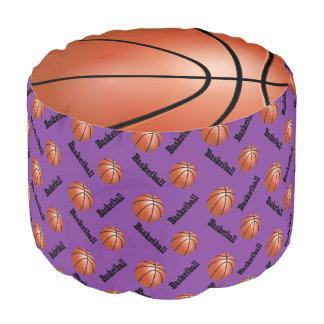 バスケットボールの紫色のスポーツパターン プーフ