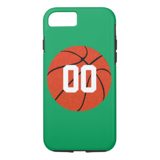 バスケットボールの緑のカスタムな電話箱 iPhone 8/7ケース