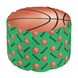 バスケットボールの緑のスポーツパターン プーフ