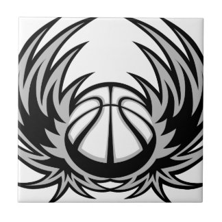 バスケットボールの翼の抽象的なスポーツのデザイン タイル