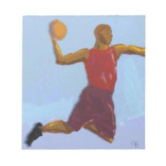 バスケットボールの芸術 ノートパッド