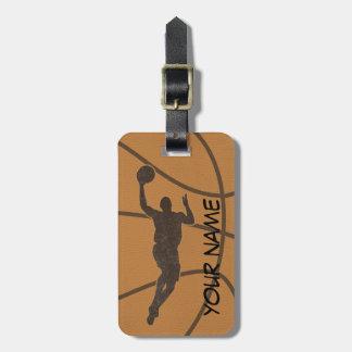 バスケットボールの荷物のラベル ラゲッジタグ