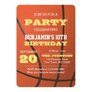 バスケットボールの誕生日のすべての行事の招待状 カード