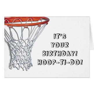 バスケットボールの誕生日 カード