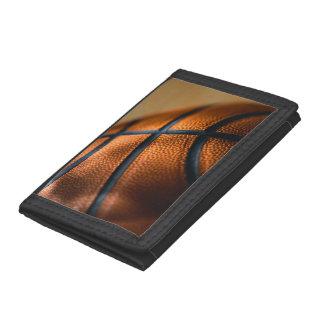 バスケットボールの財布 ナイロン三つ折りウォレット