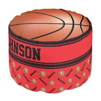 バスケットボールの赤いスポーツパターン プーフ