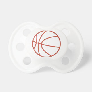 バスケットボールの輪郭 おしゃぶり