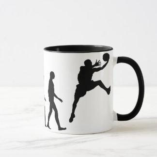 バスケットボールの進化 マグカップ