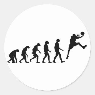 バスケットボールの進化 ラウンドシール