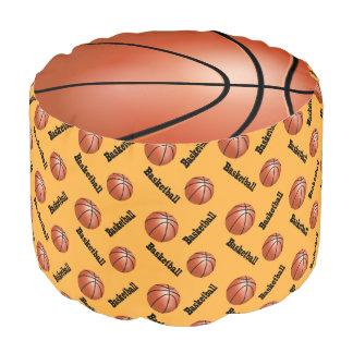 バスケットボールの金ゴールドのスポーツパターン プーフ