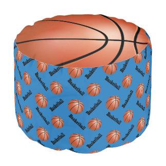 バスケットボールの青いスポーツパターン プーフ