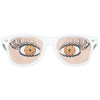 バスケットボールはおもしろいファンのサングラスを注目します レトロサングラス