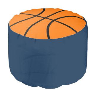 バスケットボールはオットマンの枕Poufの座席を遊ばします ラウンドクッション