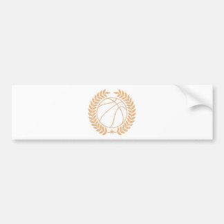 バスケットボールはグラフィックに挑みます バンパーステッカー