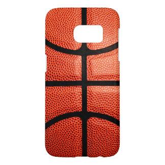 バスケットボールはテーマの写真のギフトのアイディアを遊ばします SAMSUNG GALAXY S7 ケース