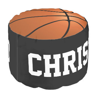 バスケットボールは子供のパーソナライズされたなオットマンの装飾を遊ばします プーフ