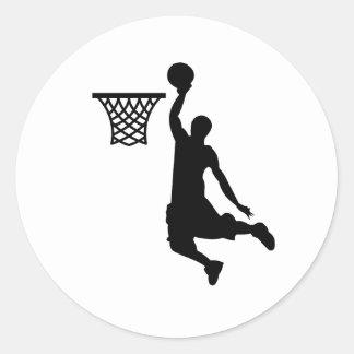 バスケットボールは素晴らしいスポーツです ラウンドシール