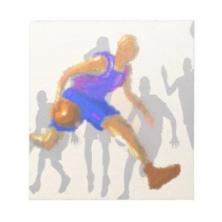 バスケットボールは芸術を動かします ノートパッド