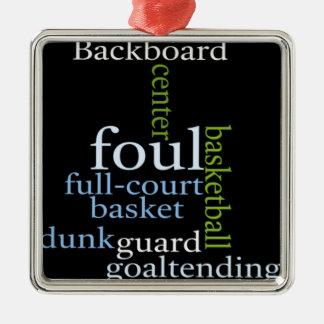バスケットボールはFanatic.jpgを遊ばします メタルオーナメント