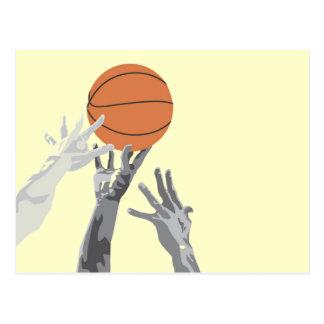 バスケットボールはTシャツおよびギフトをひっくり返します ポストカード