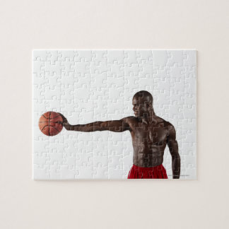 バスケットボールを保持している人 ジグソーパズル