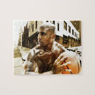 バスケットボールを保持している若者 ジグソーパズル
